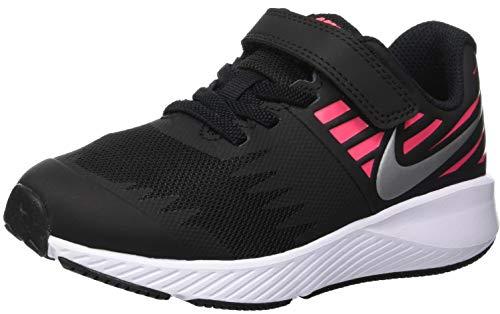 Nike Mädchen Star Runner (PSV) Laufschuhe, Mehrfarbig (Black/Metallic Silver/Racer Pink/Volt 004), 32 EU -