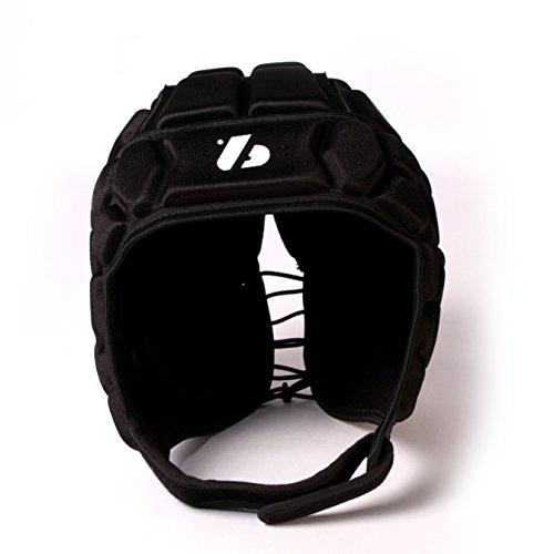 HEAT PRO Rugby Helm, Spielhelm Profi, Farbe schwarz