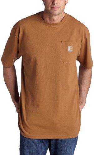 Carhartt Men's Workwear Pocket T-Shirt,Brown,Medium -