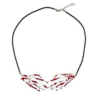 WIDMANN?Collar manos esqueleto insanguinate Womens, color blanco, talla única, vd-wdm05712