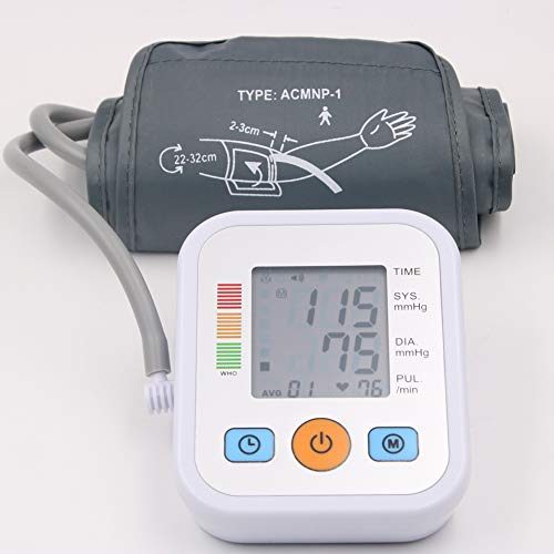 ZKKAW Upper Arm Blood Pressure Monitor, Digital Electric Sphygmomanometer Large Cuff Fully Automatic BP Tester Machine Meters 2 User Modes Use for Home