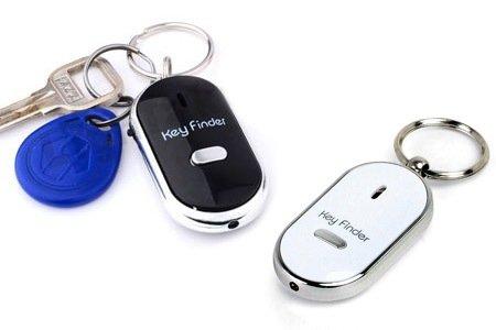 Key Finder - Shop Story - Lote de 2 llaveros (silbador, LED antipérdida con localizador...