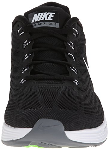 Nike Lunarglide 6, Running Entrainement Homme Black/White/Pure Platinum/Cool Grey