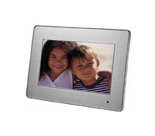 AgfaPhoto AF5076MS Digitaler Bilderrahmen 7 (17,8 cm (7 Zoll) Display, widescreen) Multimedia mit Alu-Frontblende mit Wechselrahmen