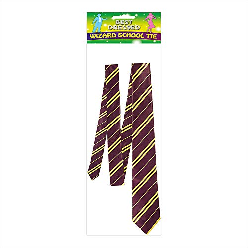 Novelty Harry Potter Corbata con Franjas, Rojo