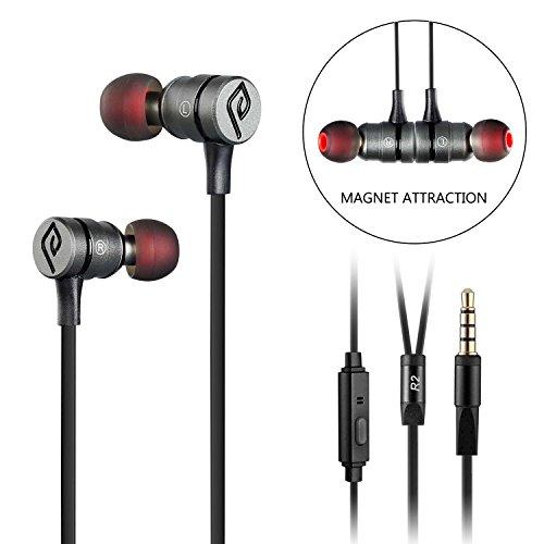 Al, parasom R2magnetico Attraction Sport In-Ear Headphones, Cuffie con microfono integrato (Rosso/Nero) Nero