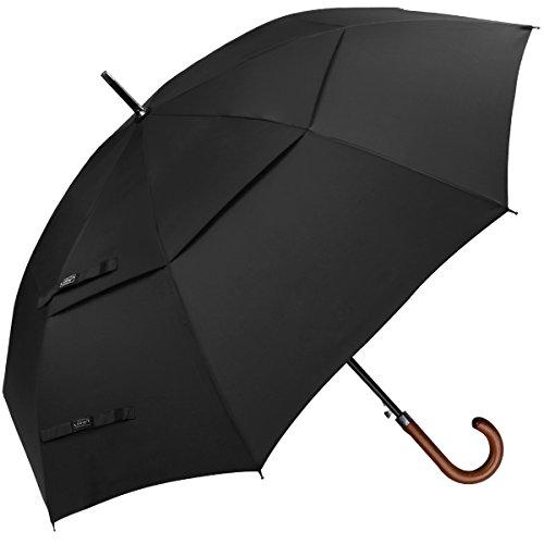 G4Free 62 Inch Automatische ?ffnen Golf Umbrella Extra Gro?e Double Canopy Vented Windproof Wasserdichte Stick Regenschirme