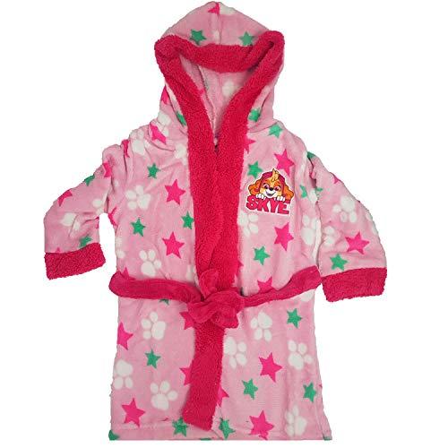 Paw Patrol - Albornoz para niña, Mullido, con Capucha de Forro Polar Rosa 2 Talla 98 cm