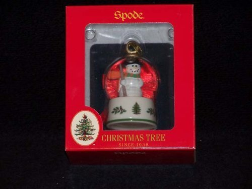 Spode Christmas Ornamente (Spode Christmas Tree Ornament Snowman Snowglobe by Spode)
