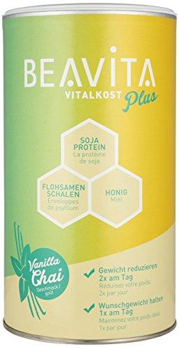 BEAVITA - Vitalkost Plus | Poudre 572g | Saveur Vanilla Chai | Substitut de repas minceur | Shake délicieux accompagnant un régime | Sans gluten, sans substitut de sucre