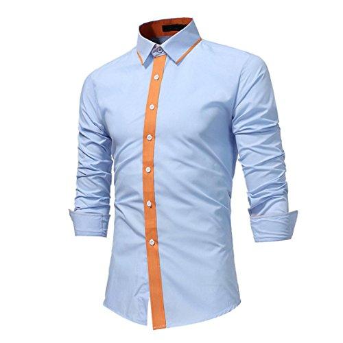 Preisvergleich Produktbild Herren Basic Principle Longsleeve Faire Löhne Active-Brushed Cotton Blend Versch Farben Grandad-Ausschnitt Hoodie Camouflage-Muster und Slogan-Print (White,  2XL)
