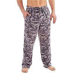 Hombre Clásico Camuflaje o De cuadros Forro Polar Ropa De Descanso Pijama Pantalones - gris camuflaje, Grande