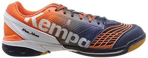 Kempa Attack One, Herren Handballschuhe Blau (marine/orange/blanc)