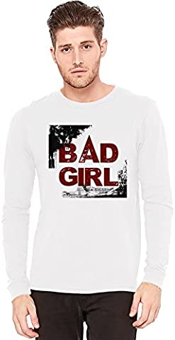 Bad Girl Long-Sleeve T-shirt   100% Preshrunk Jersey Cotton  DTG Printing  Unique & Custom Knit Sweaters, Full Sleeved Jackets, Jerseys & Fashion Clothing By Wicked Wicked XX-Large