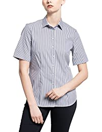 ETERNA half sleeve Blouse COMFORT FIT striped