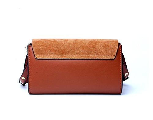 Frauen Echtes Leder Matte Handy-Wallet Kleine Umhängetasche Einzel-Umhängetasche Blue