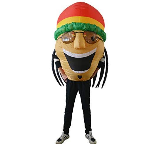 eidung Jamaica Singer Doll Inflatables Festival Cosplay Kostüm Jugendliche Blastum-Bräus-Tragen Sonnenbrillen, Thanksgiving Weihnachtskleid ()