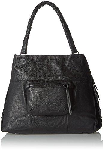 Liebeskind Berlin Damen AnjoS Shopper, Schwarz (ninja black 9998), 42x30x16 cm