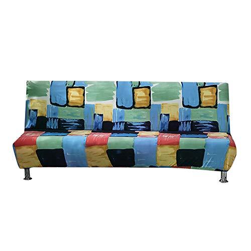 Festnight copridivano senza braccioli fodera per divano letto elasticizzata fodera per divano letto pieghevole completamente elastica senza braccioli antiscivolo per divano a due/tre posti