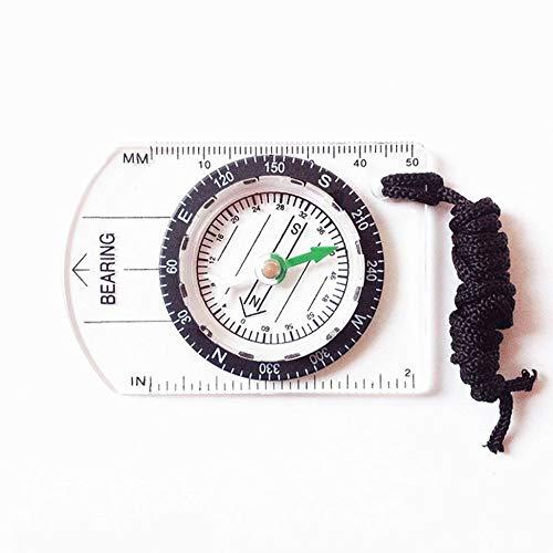 JesseBro76 Professionelles Mini-Kompass-Kartenmaßstab-Lineal Multifunktionsgerät Außen klar (Mini-lineal Klare)