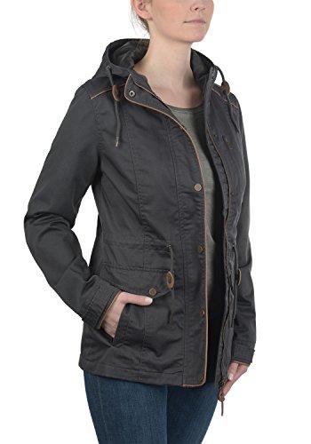 DESIRES Anja Damen Übergangsjacke Jacke mit Kapuze aus hochwertiger Materialqualität Dark Grey (2890)