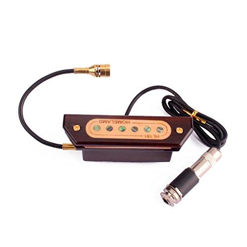 MagiDeal Holz Magnet Schallloch Tonabnehmer, Soundhole Pickups für Akustikgitarre