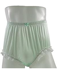 79dc74530f52 Nylon Knickers NQH02D03 Fair Green Handmade Ladies Knickers Women Granny  Breifs Panties Silky Underwear Men