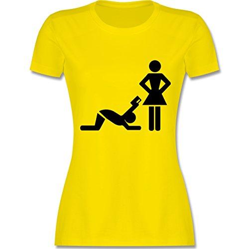 JGA Junggesellinnenabschied - Kreditkarte - tailliertes Premium T-Shirt mit Rundhalsausschnitt für Damen Lemon Gelb