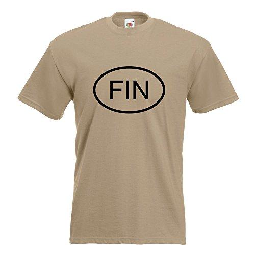 KIWISTAR - Finnland FIN T-Shirt in 15 verschiedenen Farben - Herren Funshirt bedruckt Design Sprüche Spruch Motive Oberteil Baumwolle Print Größe S M L XL XXL Khaki