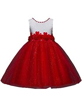 WanYang Las Niñas De Verano Sin Mangas Niños Vestido De Gasa Princesa Vestido Arco Vestido Niña De Las Flores...