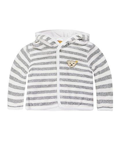 Steiff Unisex Sweatshirt Babyjäckchen 1/1 Arm, Gr. 50, Grau (Softgrey Melange 8200)