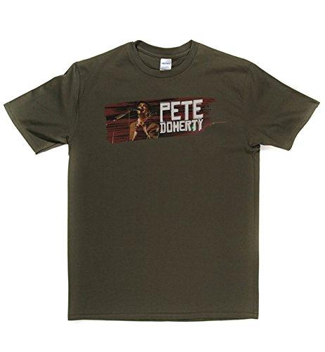 Pete Doherty Tribute Classic Rock Musik Legends Retro-T-Shirt Militär-Grün