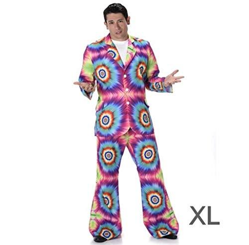 Kostüm Dye Hippie Tie - Karnival Costumes  - Hippie Kostüm Tie-Dye für Herren Taille XL