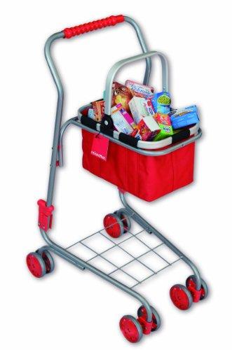 Preisvergleich Produktbild Tanner/Reisenthel 1025.1 - Kinder Metalleinkaufswagen mit original Reisenthel Carry Bag zum Herausnehmen, bestückt mit circa 40 hochwertigen Miniaturfaltschachteln