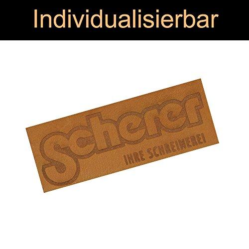 namensbaender Leder Etiketten Selbst Gestalten, Labels mit Logo aus Echtem Leder, 3 x 3 cm (Carmel, 20) (Carmel 20)