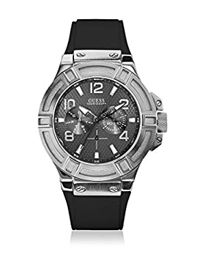 Guess W0247G4 - Reloj para hombre con correa de caucho, color negro / gris de Guess