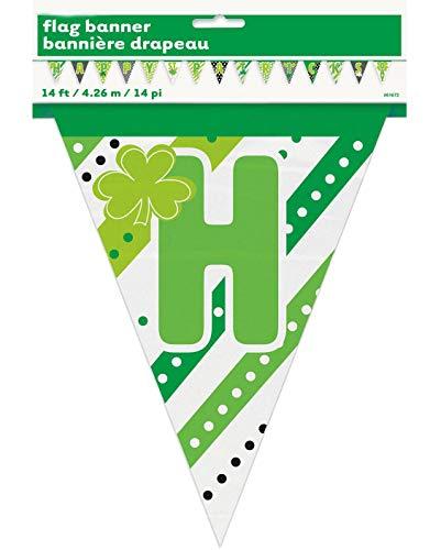 Hi Fashionz Happy St. Patricks Day Flagge Banner Party Dekoration Bunting Irland Zubeh�r One Size