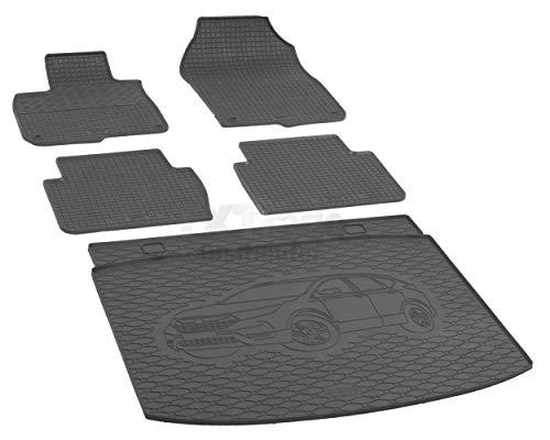 Passende Gummimatten und Kofferraumwanne Set geeignet für Honda CR-V 5-Sitzer ab 2018ein Satz (Crv Teppich)