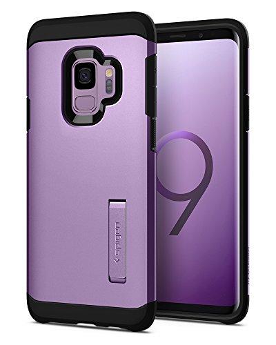 Spigen 592CS22849 Tough Armor Kompatibel mit Samsung Galaxy S9 Hülle, Doppelte Schutzschicht für Extrem Fallschutz Schutzhülle Case Lilac Purple