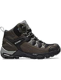 Hola Tec Pathfinder I Botas para caminar Hombre Senderismo Trail Shoes Brown, Gris, 45