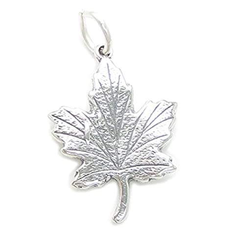 Maple Leaf en Argent 925/1000–Maples CF177 Canada charms Feuilles