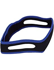 tracffy Snore tope cinturón anti ronquidos CPAP correa de barbilla mandíbula Apnea del sueño solución, azul