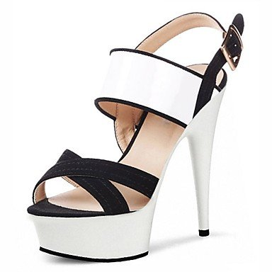 RTRY Donna Pantofole &Amp; Flip-Flops Ciabatte Pvc Summer Party &Amp; Sera Crystal Stiletto Heel Ruby Bianco Nero 5In &Amp; Oltre US6.5-7 / EU37 / UK4.5-5 / CN37