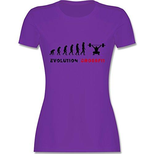 Evolution - Evolution Crossfit - tailliertes Premium T-Shirt mit Rundhalsausschnitt für Damen Lila