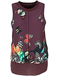 Top Shirt E Donna Bluse T it Viola Amazon Desigual 7wxXCHqnF