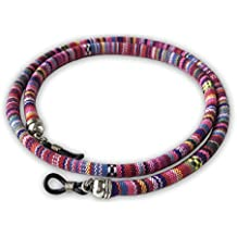 Cordón redondo de gafas estampado étnico rosa violeta verde