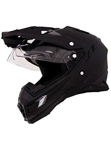 O'Neal Sierra Adventure Enduro Helm matt schwarz aerodynamischer Motorradhelm mit Sonnenblende, 0815-40, Größe Medium (57 - 58 cm)