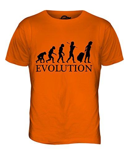 CandyMix Reise Reisende Evolution Des Menschen Herren T Shirt Orange