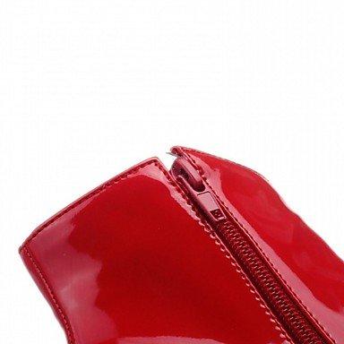 CH&TOU Da donna-Stivaletti-Matrimonio Ufficio e lavoro Formale Casual Serata e festa-Plateau Comoda Innovativo-A stiletto Plateau-Vernice Finta red