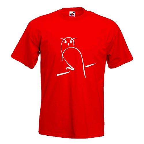 KIWISTAR - Eule T-Shirt in 15 verschiedenen Farben - Herren Funshirt bedruckt Design Sprüche Spruch Motive Oberteil Baumwolle Print Größe S M L XL XXL Rot